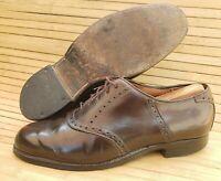 Men's 8 ALDEN Horween Shell Cordovan 994 Plain Toe Brogue Dress Shoes Casual USA