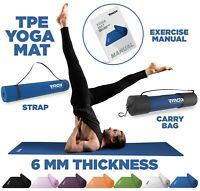 RDX Tappetino Yoga Fitness Pilates Esercizi Palestra Tappeto Aerobica Ginnastica