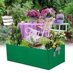 Fabric Raised Vegetable Planter Pocket Flower Herb Rectangle Bed
