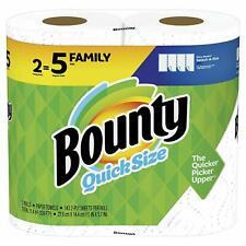 Bounty Quick-Size Paper Towels, 2 Family Rolls, White