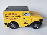 WM MORRISON PROVISIONS LTD Novelty Biscuit Tin Fudge Storage EXCELLENT CONDITION