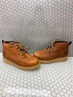 """GEORGIA BOOT 5"""" Chukka Wedge Brown Leather Lace Up Work Boots Men's Size 9.5 M"""
