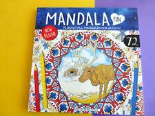 Mandala Malbuch  für Erwachsene Rentier & co  ca:72 Vorlagen