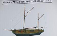 Artmaster 80.584 Fischewer Maria Segelversion VR / Segelboot H0 1:87 Neu / OVP