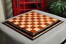 """Signature Contemporary Chess Board - RED AMBOYNA  / BIRD'S EYE MAPLE - 2.5"""" Squa"""