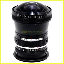 Aggiuntivo grandangolare Fisheye 180° Kenko innesto a vite 52mm. wide adapter.