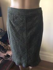 SZ 8 CUE WOOL BUSINESS SKIRT * BUY FIVE OR MORE ITEMS GET FREE POST *