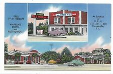 HARDEEVILLE NORTH CAROLINA Warren's Motel and Restaurant Signs Automobiles