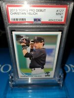 PSA 9 MINT ~2013 TOPPS PRO DEBUT CHRISTIAN YELICH #127  RC ROOKIE LOW POP🔥⚾️🚀