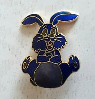 Vintage Gold Tone Enamel Bunny Rabbit Brooch Lapel Pin Cute Costume Jewellery