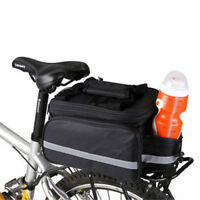 Bicycle Bike Waterproof Storage Saddle Bag Seat Cycling Rear Pouch Outdoor Black
