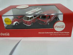 Oxford Diecast 76SET60C VW 3 Piece set Coca Cola 1/76