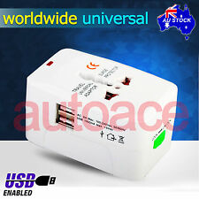 All in One USB Universal World Travel Power Charger AC Adaptor Plug US UK EU AU