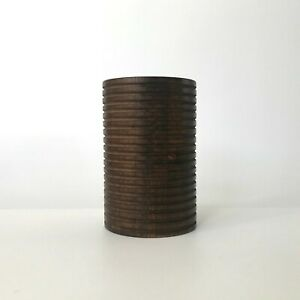 Vintage Danish MCM  Wenge Pencil Holder Cup Geometric Design Desk Accessories