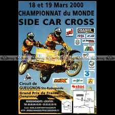 ★ SIDE-CAR CROSS 2000 ★ Geugnon Ste Radegonde - Pub MOTO Publicité Advert #A106