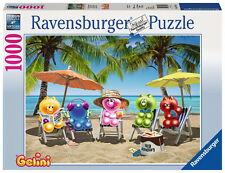 1000 Teile Ravensburger Puzzle Gelini Gelinis im Sommerurlaub 19701