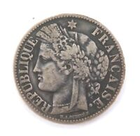 .1871 FRENCH FRANCE SILVER 2 FRANCS.