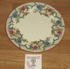 "J)VINTAGE ROYAL CAULDON VICTORIA (RED TRIM) FLORAL DINNER PLATE 10 1/4""DIAM"