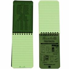 "Rite in the Rain 3x5"" Waterproof Notepad Notebook Green Army Cadet Bushcraft SAS"