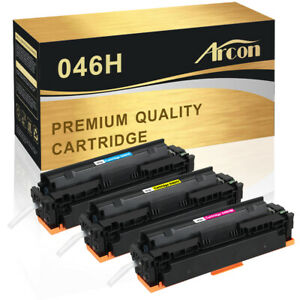 3PK Color Toner Compatible for Canon 046H ImageClass MF731Cdw MF733Cdw MF735Cdw