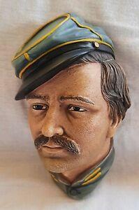 BOSSONS Congleton Chalkware Head Infantry Officer American Civil War 1986