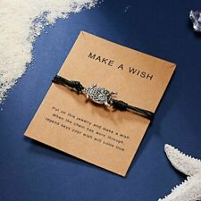 Owl Charm Bracelet Black Rope Bangle Jewellery - Charm Bracelet on Gift Card