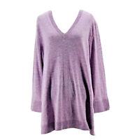 J. Crew Women's Purple Wool Blend Long Sleeve V-Neck Sweater Size Medium