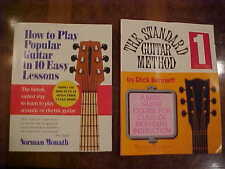 ✔2 BOOKS How to Play Popular Guitar 10 Easy Lessons & Standard Guitar Method 1