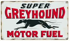 Reproduction Greyhound Motor Fuel Gas And Motor Oil Sign