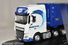 Oxford Diecast DAF XF Euro 6 Combi Skeletal Trailer Maritime Transport 76DXF001