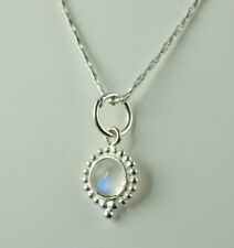 Rainbow Moonstone 925 Sterling Silver Handmade Necklace (US-RBM-NCK-001)