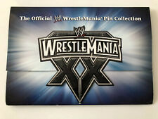 The Official WWE/WWF WrestleMania 20th Anniversary Pin Belt Collectible Set
