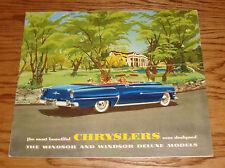 Original 1953 Chrysler Windsor Sales Brochure 53 Deluxe
