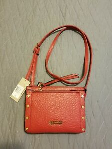 New Red Crossbody Shoulder Bag 3 Sections Kenneth Cole Reaction  Bryanna