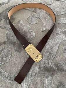 Ladies Authentic Vintage Celine Belt with Buckle Brown Size L ( New with Defect)