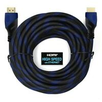 Premium 50ft HDMI Cable for Bluray 3d DVD PS4 HDTV Xbox LCD 1080p monitor Blue