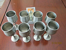 Royal selangor Pewter wine glasses 8 Never Used 4 3/8 inches tall Vintage
