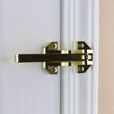 Door Security Guard Lock Bright Brass Heavy-Duty Defiant Home Improvement