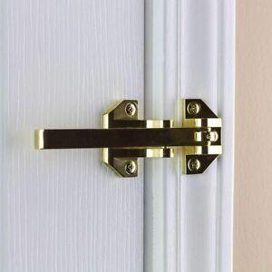 Door Security Guard Lock Bright Brass Heavy-Duty Defiant Home Improvement