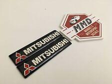 2 x Mitsubishi Badge Decals Mitsubishi Lancer Evolution 1-10 Triton Colt ASX