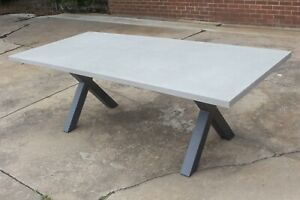 Switch - 2200mm Outdoor Table - Concrete Top with Aluminium Legs