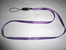 VIOLET PURPLE NECK STRAP LANYARD ID BADGE CAMERA CELL