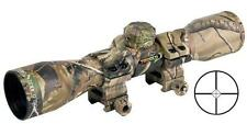Truglo 4x32 Compact CAMO SHOTGUN-RIMFIRE Scope w/Rings Diamond Ballistic Reticle