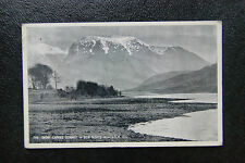 Old RPPC Postcard 'Snow Capped Summit of Ben Nevis from Loch Eil' -Postmarked