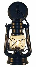 Rustic lantern QTY 6  Black Oil Lamp electric wall sconce.
