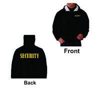 Security Windbreaker Jacket Fleece-Lined Hooded