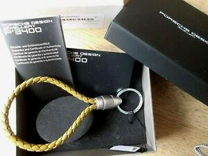 Porsche Design Schlüsselanhänger Grooves Keyring Keyholder golden palm Leder PD