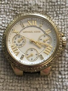 Preowned PVD Gold Plated Michael Kors Camille MK-5945 Watch Head. Fully Working.