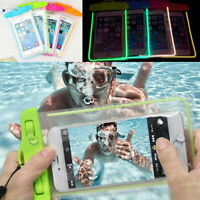 20m Underwater Waterproof Case Fluorescent Cover Bag Dry Pouch For Mobile  *