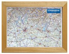 LOMBARDIA CARTA IN RILIEVO [21x30 CM] [CON CORNICE] [CARTINA/MAPPA] GLOBAL